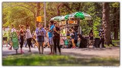Park Life (Gordon McCallum) Tags: parklife centralpark newyork nyc parkscene foodcart foodanddrink icecream summersun sunshine sony sonya6000