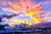 Barcelona sunset (Fnikos) Tags: port porto puerto harbour harbor sky skyline cloud sunset atardecer ship boat light city building architecture outdoor