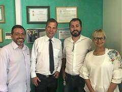 Visita dos empresários Eduardo e Roseli da Clinica Atual Diagnósticos por Imagem