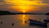 Golden shimmer (evakongshavn) Tags: sunset northsea evavision goldenscape boat water ocean sea sunsets landscape landschaft paysage 7dwf