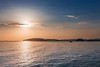 Sunrise at the sea. (sergenoskovphoto) Tags: blue red sea ship sky summer travel water yellow background beach beautiful bliss boat dusk evening fisher fisherman holiday landscape light nature ocean orange patience peace sail seascape sun sunrise sunset view village