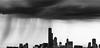 Storm Bearing Down (Kozma Shots) Tags: contrast shadow summer rain storm bw bnw blackandwhite landscape chicago