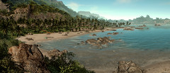 Paradise is a state of mind (Rakkhive) Tags: screenshot screenarchery videogamephotography gamephotography crysis nature suit nomad prohet psycho sea beach ocean mountains palms turtle cryengine reshade
