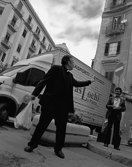 God bless you! (gio_artioli) Tags: street streetphotography bn blackandwhite palermo italy religion priest
