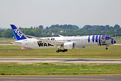 JA873A 1 Boeing 787-9 ANA All Nippon Airways (Air Japan)(R2D2 Star Wars logojet) DUS 20MAY18 (Ken Fielding) Tags: ja873a boeing b7879 ana allnipponairlines airjapan r2d2 starwarslogojet aircraft airplane airliner jet jetliner dreamliner widebody