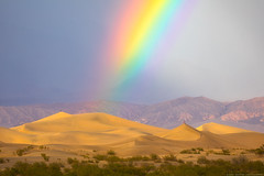 Rainbow Road (Jake Rogers Photo) Tags: jakerogersphotography jakerogers rain storm mesquitedunes deathvalleyphotography nationalpark california deathvalleycalifornia deathvalleynationalpark deathvalley dunes sanddunes rainbow