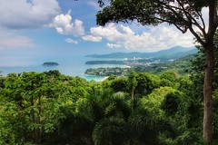 View (leewoods106) Tags: phuket viewpoint view landscape green vegitation bay bays thailand thai asia southeastasia fareast blue bluesky island stunningisland mustseeplaces journey vacation traveling