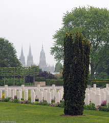 War Cemetery (peterphotographic) Tags: p5250616edwm olympus em5mk2 microfourthirds ©peterhall bayeuxwarcemetery bayeux normandy normandie france cemetery grave graveyard tomb tombstone military britisharmy cathedral church dday overlord normandylandings worldwartwo war casualties lestweforget