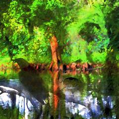 Kindred Spirits (Karen Kleis) Tags: photomanipulation arteffects crow spirit pond bird birdart abstract awardtree sharingart artdigital netartii hypothetical shockofthenew