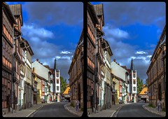 Historical Quedlinburg 3-D / CrossEye / Stereoscopy / HDRaw (Stereotron) Tags: sachsenanhalt saxonyanhalt ostfalen harz mountains gebirge ostfalia hardt hart hercynia harzgau europe germany deutschland crosseye crossview xview pair freeview sidebyside sbs kreuzblick 3d 3dphoto 3dstereo 3rddimension spatial stereo stereo3d stereophoto stereophotography stereoscopic stereoscopy stereotron threedimensional stereoview stereophotomaker stereophotograph 3dpicture 3dimage hyperstereo twin canon eos 550d yongnuo radio transmitter remote control synchron kitlens 1855mm tonemapping hdr hdri raw