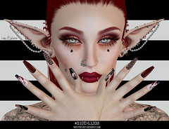 -31- Lady in Red (SL: themissz resident) Tags: event chamber darkness lotd sylvanas lady nerdy elf sexy art eyes lipstick unborn suicidal life secondlife second sl mesh dynamic slink slinky nails rabbit white