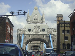 Driving through Tower Bridge (Rckr88) Tags: london unitedkingdom united kingdom tower bridge towerbridge driving through drivingthroughtowerbridge car cars bridges bridgetower road roads street streets england europe travel travelling