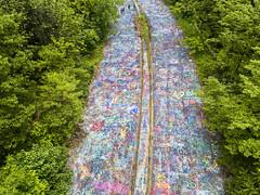 Pennsylvania's 'graffiti highway' (yan08865) Tags: centralia aerial pennsylvanias graffiti highway woods colors landscapes dji mavic nature traveler solo pavlis abandoned doomed town road above views photographers ghost