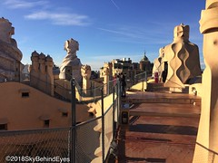 La Pedrera - roof 6 (skybehindeyes1) Tags: barcelona spain trip vacation 2018 friends winter january