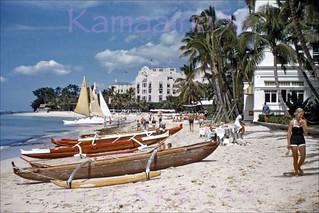 Moana Surfrider Beachfront 1955