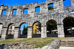 Pula: Roman Arena access arches detail (ARKNTINA) Tags: pula pulacroatia istria istra europe croatia hr18 eur18 random6 town building architecture arena amphitheater pulaarena romanamphitheater romanarena romanruins ruins