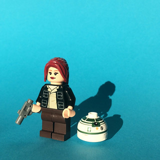 Female Smuggler with Droid