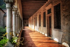 Kloster im Abendlicht... (D.Purkhart) Tags: abbeyofsantamariadifollina follina abbey santamaria italy