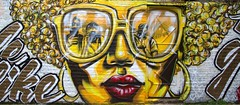 London: Streetart 2 (chriskatsie) Tags: rue street art paint peinture tag graffiti couleur colour femme woman glasses photo