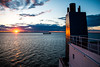First Night back at Work (langdon10) Tags: atsea canada canon70d laurentiadesgagnes quebec ship shoreline stlawrenceriver sunset tanker nautical outdoors