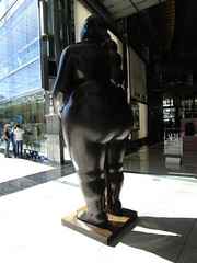 Tall Lady Woman Sculpture by Botero 2018 NYC 3785 (Brechtbug) Tags: woman sculpture by fernando botero colombian artist metal bronze nude female art sculptures front glassed lobby time warner building columbus circle thinker thinking wings nudes architecture statues statue gargoyle gargoyles new york city broadway store shopping center mall heavy zaftig puffy hefty big boned sturdy tall 2018 nyc 06152018 lady portrait