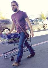 IMG_2373 (danimaniacs) Tags: elpaso hot sexy man guy mansolo beard scruff hunk jeans shopping cart