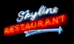 Skyline Restaurant Neon Sign .... Toronto, Ontario (Greg's Southern Ontario (catching Up Slowly)) Tags: neon neonsign restaurant skylinerestaurant torontoist parkdaletoronto neontoronto neonsigntoronto nightphotography 1426queenstreetwest