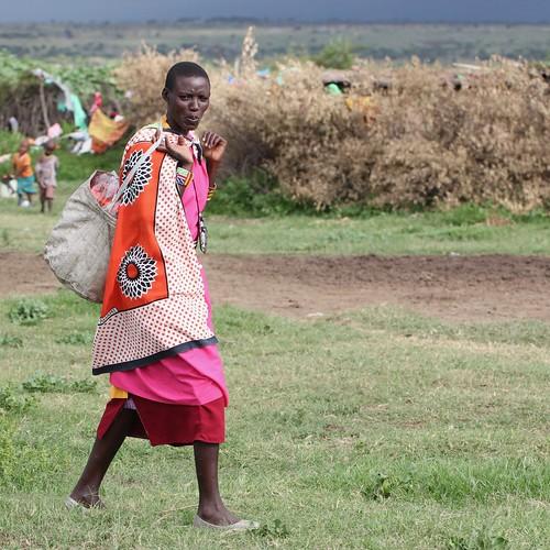 Tall Maasai woman