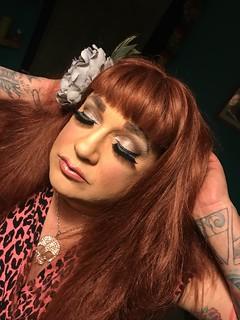 #drag #tranny #gingerbimbo #lipgloss #redhead #mac #cosmetics