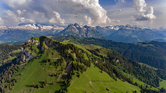 Mountains (Silvan Bachmann) Tags: switzerland swiss suisse canton schwyz aubrig stattelegg mountains swissalps clouds sky green forest nature landscape hiking drone dji phantom sun spring