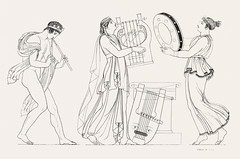 Grecian musical performers from An illustration of the Egyptian, Grecian and Roman costumes by Thomas Baxter (1782-1821).Digitally enhanced by rawpixel. (Free Public Domain Illustrations by rawpixel) Tags: illustration publicdomain otherkeywords afterlife anillustrationoftheegyptian ancient ancientgreek antique art artistic baxter belief cc0 drawing drum empire flute gods grecian grecianandromancostumes grecianmusicalperformers greek historic historical history man muscle music musical musicalinstrument musician mythology old oldtime performers playing romans sketch stand standing strings things thomasbaxter vintage woman worship