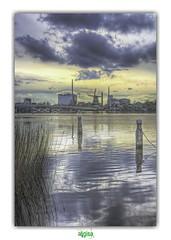ZAANDAM (régisa) Tags: zaandam holland moulin usine windmill zaanseschans nederland netherlands paysbas factory reflet reflection sunset coucher soleil nursewithwound
