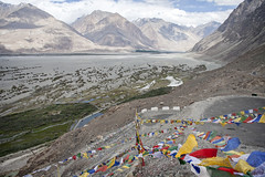 More prayer flags (bag_lady) Tags: nubravalley prayerflags buddhism ladakh india diskitmonastery diskit landscape valley
