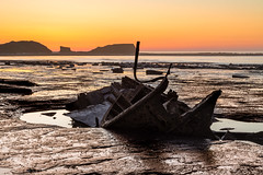 Closer to Destruction (Justin Cameron) Tags: admiralvontromp saltwickbay shipwreck leegraduatedfilter whitby canon5dmkiii sunset sunlight blacknab seascape