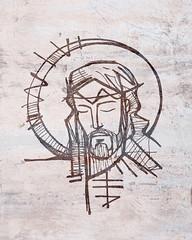 Jesus Christ Face ink illustration (iknuitsin) Tags: handdrawn illustration drawing ink sketch image religious religion catholic christian spiritual divine holy sacred god jesus christ symbol face head man passion thorns