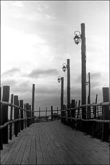 Entrada a la Playa Escondida (mavricich) Tags: monocromo monocromático mar summicron argentina agua film fomapan fomadon leica latinoamérica película pinamar playa paisaje mascota nubes nublado naturaleza m3 cielo océano gente arena orilla del en la foto muelle sea ocean oceano foma r09 bahía