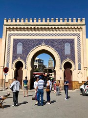 Blue door (ChiaraBer) Tags: fez jewish quarter mellah blue door architecture morocco moroccan city cityscape travel trip wanderlust mosque girls iphone photography street africa african country history amazing place wonderful interesting