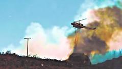 arranca pajarito, Concepcion (Manuel Capdevila) Tags: incendio acción helicoptero fuego bomberos