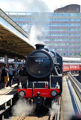 45212 backing out of Portsmouth Harbour Station (davids pix) Tags: 45212 stanier black 5 preserved lmsr steam locomotive cathedrals express railtour portsmouth harbour 2018 02062018