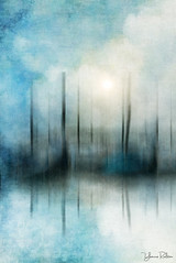 the magic of venice . . . (YvonneRaulston) Tags: europe italy venice magic reflection water watercolour boats sun blue blur gondola impressionist atmospheric art abstract artistry creativeartphotography calm colour clouds creative dream digitalart digital emotive fineartgrunge glow icm impact italian light sky moody moments mysterious mist sony soft photoshopartistry peaceful surreal texture together vignette vibrant yvonneraulston