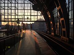 Sundown at Alexanderplatz (Renate R) Tags: sonnenuntergang sundown sunset alexanderplatz berlin trainstation sbahn