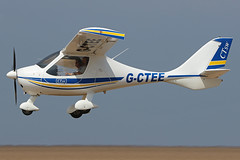 G-CTEE (QSY on-route) Tags: gctee lancashire landing 2018 fly in knott end beach airfield 09062018