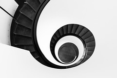 Black Spiral Staircase (2kreviews) Tags: blackandwhite design high angle shot modern spiral stairs
