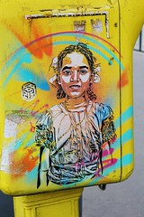 C215_8576 boulevard de Port Royal Paris 13 (meuh1246) Tags: streetart paris paris13 c215 boulevarddeportroyal enfant boîteauxlettres