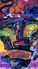 カラフルな嘆き (alice 240) Tags: expression painting artgalleryandmuseums contemporaryart dream visualpoetry visualart modernart illustration alice240 atelier240art art alicealicjacieliczka traditionalart museum カラフルな嘆き artist gallery flickr poetry watercoloronpaper expressionism magic abstract watercolor