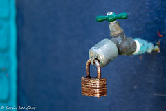 In A Drought (lorinleecary) Tags: spigot blue sigma30mm metal green lock nd8x 14 morrobay