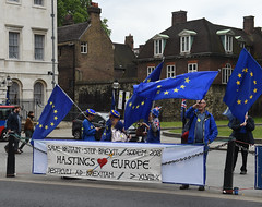Img634629nxi_conv (veryamateurish) Tags: london westminster parliament housesofparliament abingdonstreet demonstration protest eu europeanunion brexit flags