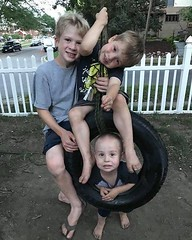 Working hard to replace our customers' tires is fun and rewarding. But it's even MORE rewarding when we see the old used tires turn into tire swings for youngsters like Ashton, Damian and William! #usedtires #tireswings #recycle #lovesummer (Big Red Tire Pros) Tags: instagram big red tire pros