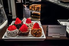 Brochette (Melissa Maples) Tags: brussel bruxelles brussels belgique belgië belgium europe apple iphone iphone6 cameraphone winter strawberries chocolate sweets dessert fruit food display window godiva