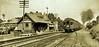 B&O train headed north from DC, leaving the station at Takoma Park Sept. 1910 [W. R. Ross. DC Library] (SSAVE over 10 MILLION views THX) Tags: maryland takomapark depot railroad railroadstation steamlocomotive bo baltimoreandohiorailroad